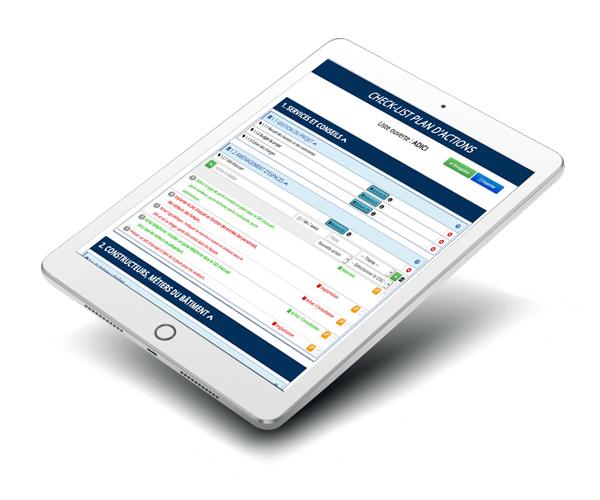 Tablette plan d'action XLS