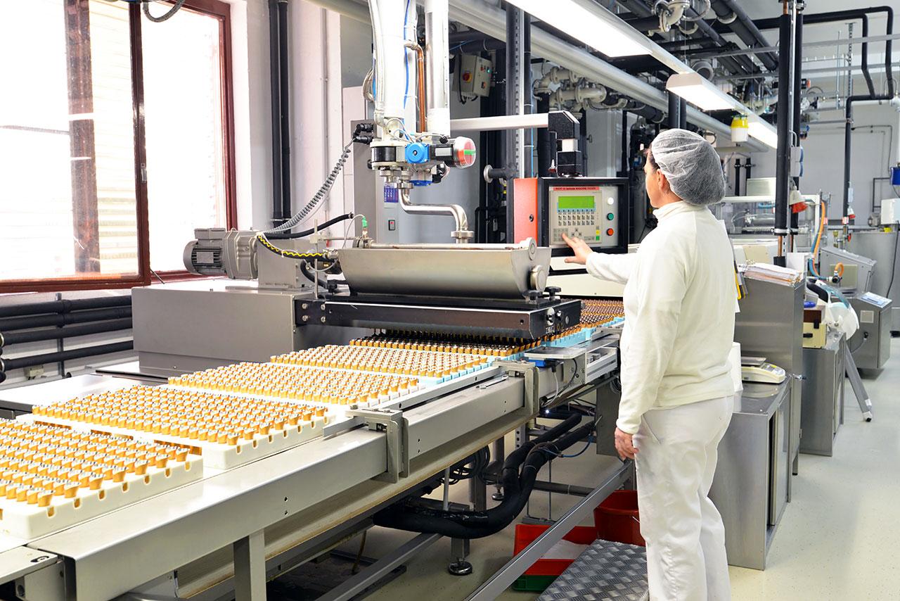 Chaîne de production industrielle